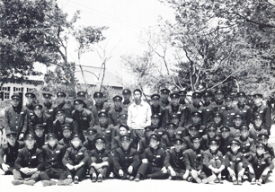 With students of Suwon Agriculture High School in 1965